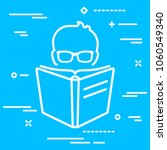 head of reader with glasses... | Shutterstock .eps vector #1060549340
