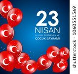 23 nisan cocuk baryrami.... | Shutterstock .eps vector #1060551569