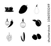 icon fruits and vegetables with ... | Shutterstock .eps vector #1060553249