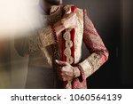 strong handsome indian groom...   Shutterstock . vector #1060564139
