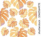 vector summer tropical pattern... | Shutterstock .eps vector #1060564970