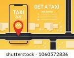 vector taxi mobile app design