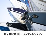 close up on a rack of modern... | Shutterstock . vector #1060577870
