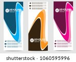 roll up banner stand template... | Shutterstock .eps vector #1060595996