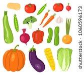 set vegetables  potatoes ... | Shutterstock .eps vector #1060596173