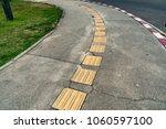 tactile paving for blind... | Shutterstock . vector #1060597100
