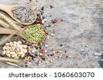 three kinds of natural grain... | Shutterstock . vector #1060603070