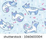 seamless pattern with cute... | Shutterstock .eps vector #1060603304