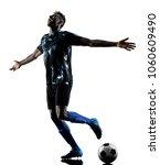 one african soccer player man...   Shutterstock . vector #1060609490