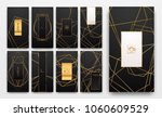 gold collection of geometrical... | Shutterstock .eps vector #1060609529