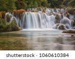 waterfall in krka national park ... | Shutterstock . vector #1060610384