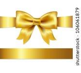 golden bow  isolated on white... | Shutterstock .eps vector #106061879