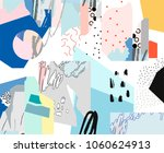 creative art header with... | Shutterstock .eps vector #1060624913