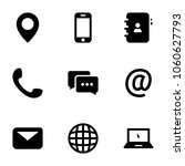 set of black icons isolated on... | Shutterstock .eps vector #1060627793