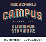 modern extruded font named ... | Shutterstock .eps vector #1060638089