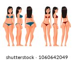 vector illustration of fat and...   Shutterstock .eps vector #1060642049