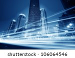 the light trails on the modern... | Shutterstock . vector #106064546