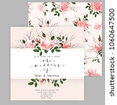 save the date card  wedding...   Shutterstock .eps vector #1060647500