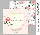 save the date card  wedding... | Shutterstock .eps vector #1060647503