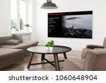 modern panoramic smart tv on a...   Shutterstock . vector #1060648904
