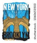 brooklyn bridge  new york city  ...   Shutterstock .eps vector #1060653503