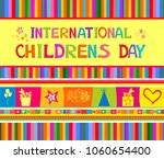 happy children day  celebration ... | Shutterstock .eps vector #1060654400