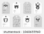 monochrome stylich kids... | Shutterstock .eps vector #1060655960
