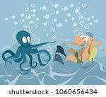 vector illustration of a funny... | Shutterstock .eps vector #1060656434