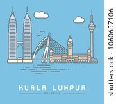 line icon style kuala lumpur...   Shutterstock .eps vector #1060657106