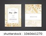 vintage wedding invitation... | Shutterstock .eps vector #1060661270