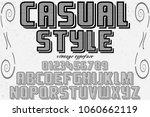 font alphabet typeface... | Shutterstock .eps vector #1060662119