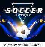 soccer ball with light effects. ... | Shutterstock .eps vector #1060663058