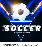 soccer ball with light effects. ... | Shutterstock .eps vector #1060663064