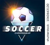 realistic soccer ball. football ...   Shutterstock .eps vector #1060663130