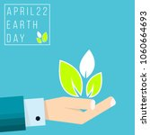 earth day april 22. vector... | Shutterstock .eps vector #1060664693