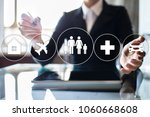 family insurance concept on the ... | Shutterstock . vector #1060668608