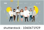 main page web design with... | Shutterstock .eps vector #1060671929