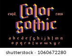 color gothic alphabet. bright... | Shutterstock .eps vector #1060672280