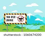 no fly zone area for drones....   Shutterstock .eps vector #1060674200