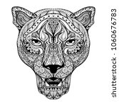 panther head zentangle stylized | Shutterstock .eps vector #1060676783