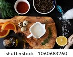 assortment of ingredients for... | Shutterstock . vector #1060683260