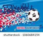 football championship concept... | Shutterstock .eps vector #1060684154