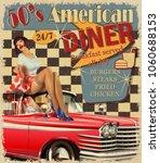 american diner vintage poster... | Shutterstock .eps vector #1060688153