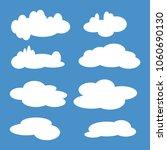 cloud set. vector illustration. ... | Shutterstock .eps vector #1060690130