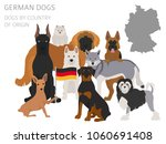 dogs by country of origin.... | Shutterstock .eps vector #1060691408