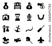 solid vector icon set   money...
