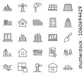 thin line icon set   mortgage... | Shutterstock .eps vector #1060694429