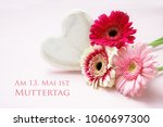 pink flowers and a white... | Shutterstock . vector #1060697300