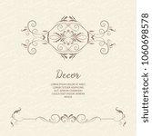 vector decorative frame.... | Shutterstock .eps vector #1060698578
