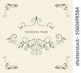 vector decorative frame.... | Shutterstock .eps vector #1060698584